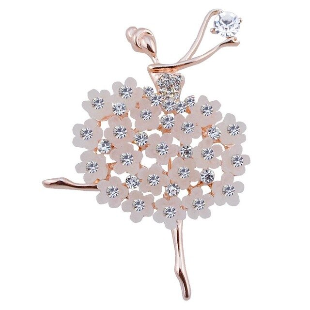 Rhinestones Crystal Crown Large Flower Bridal Brooch Pin