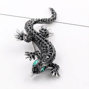 Crystal Vintage Lizard Brooch For Women