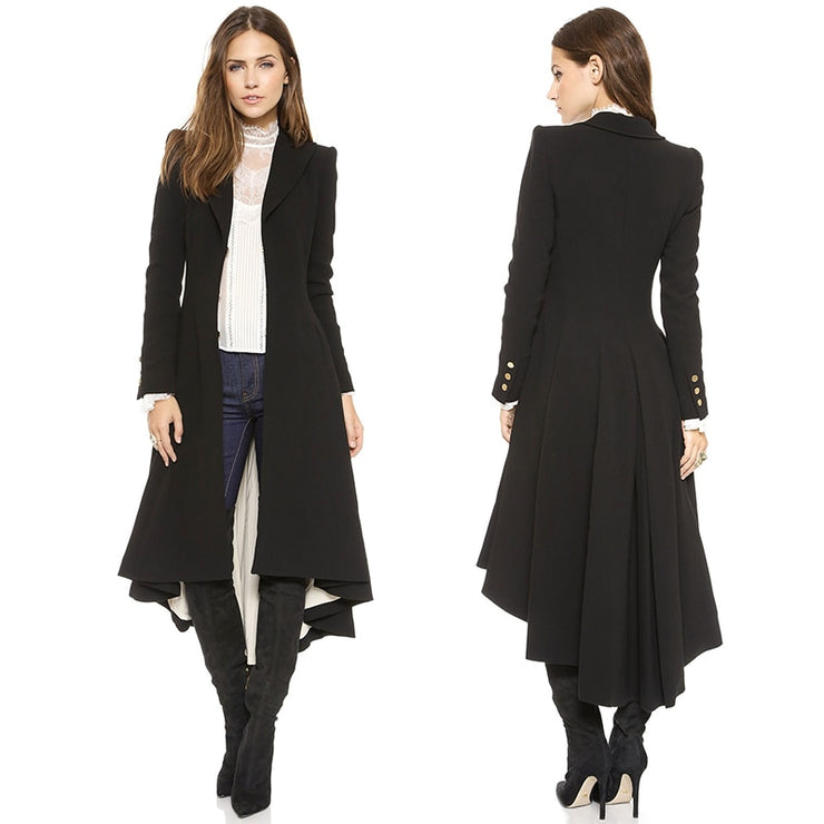 White Lining Long Wool Coat