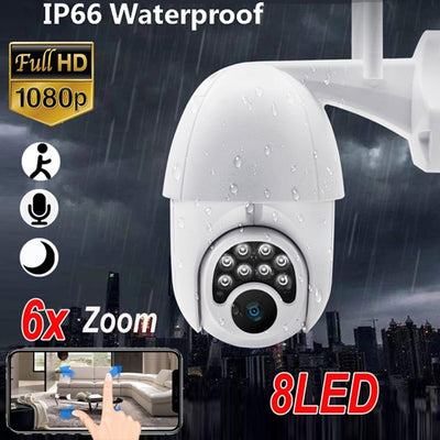 Camera H.265 Zoom HD 1080P Wifi IP Camera 8-Night Light Waterproof Security