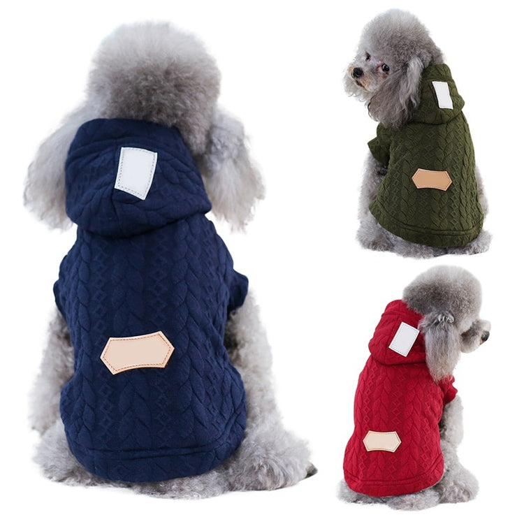 Three-color Jacquard Cotton Coats For Pet