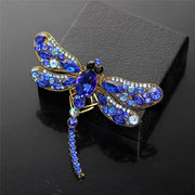 Crystal Vintage Dragonfly Brooches for Women