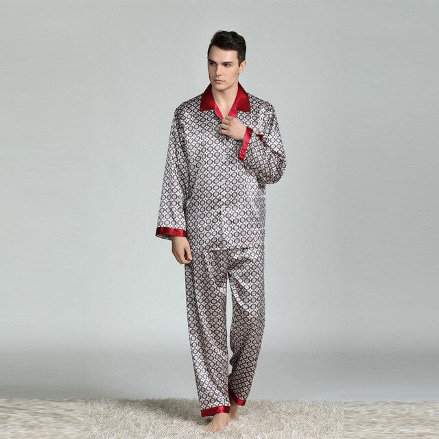 Comfortable  Silk Pajamas Suit