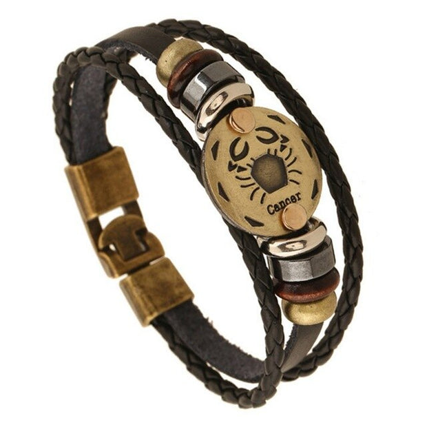 Constellation Leather Bracelet