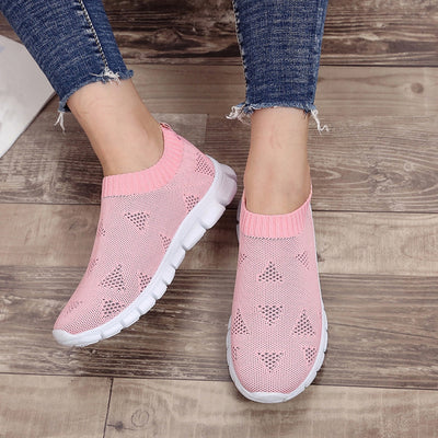Women Breathable Air Mesh Sneakers Slip-on