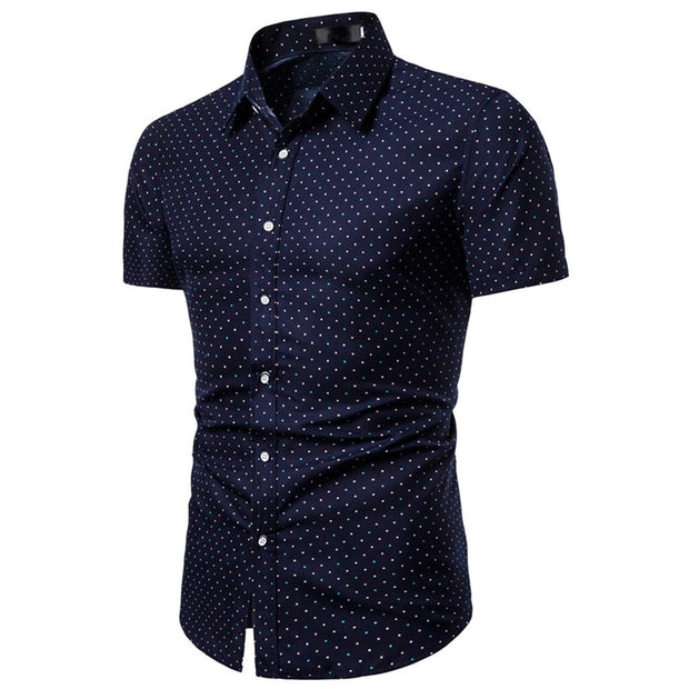 Short Sleeve Slim Fit Business Dress Shirt