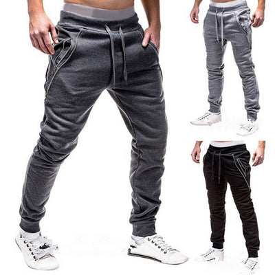 SHUJIN Male New Fashion Hip Pop Pants Men Sweatpants Slacks Casual Elastic Joggings Sport Solid Baggy Pockets Trousers
