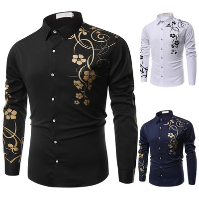 Spring Men Casual Shirts Fashion Long Sleeve