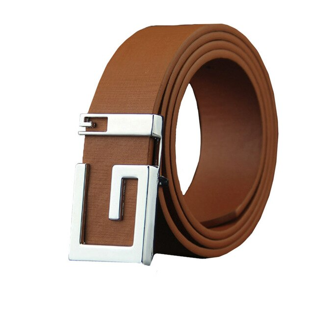KANCOOLD Men leather belt Fashion Mens Leather Smooth Girdle Buckle Waistband Waistband Leisure Belt Strap casual Cummerbunds 10