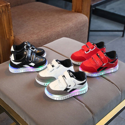 Kids Shoes girls Children Baby Girls Boys Letter Led Light Luminous Running Sport Sneaker Shoes zapatos niña детская обувь