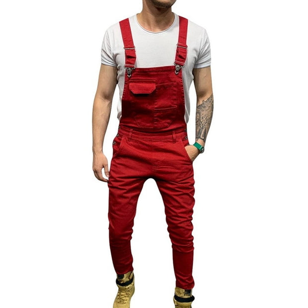 Suspender Denim Trousers Mens