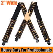 Suspenders Adjustable Four Clip-on X - Back Elastic