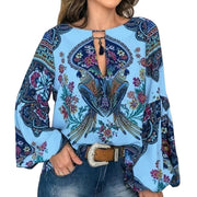 Women Bohemian Clothing Plus Size Blouse Shirt