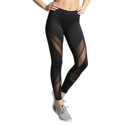 Mesh Workout Leggings Women Sexy Activewear Push Up Pant Elastic High Waist Sweatpants Black Jeggings Breathable Trousers Mujer
