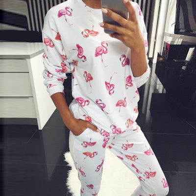 Animal Cartoon Sleepwear Women's Pyjamas Sets