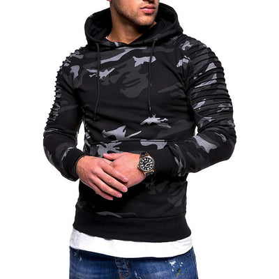 Spring Camouflage Hoodies Men Sweatshirt