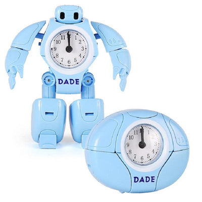New Cartoon Alarm Clock Transform Robot