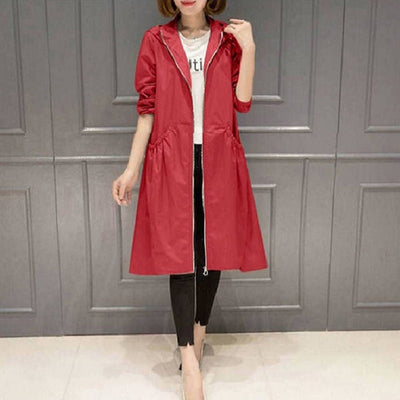 Hooded Business Women Wear Coat