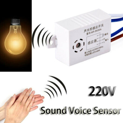 220V Module Sound Voice Sensor Intelligent Auto On Off Light Switch Controller Automatic Control Save Energy Smart Home Switch