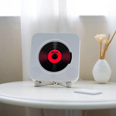 Portable Bluetooth CD Player Wall Mountable Home Audio Boombox with Remote Control FM Radio Built-in HiFi Speakers USB MP3 #20