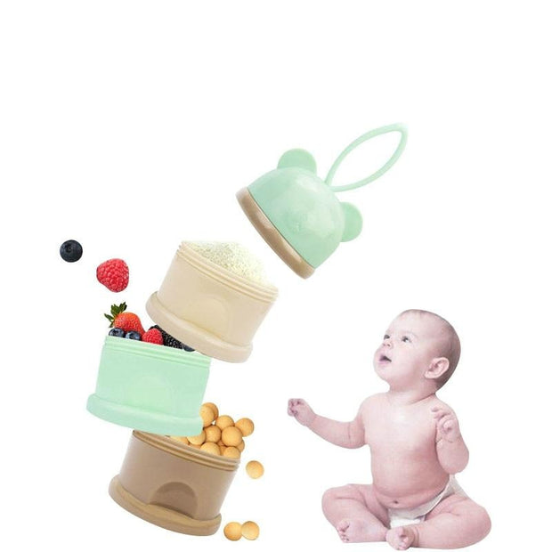 3 Layer Cartoon Portable Baby Food Storage Boxs