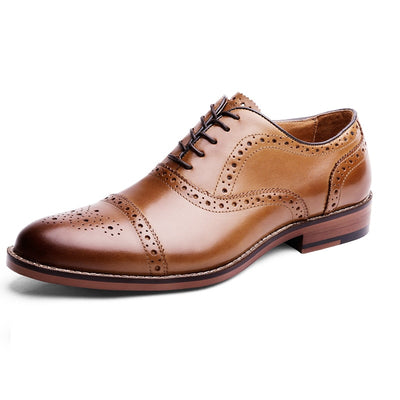 Desai Pointed Toe British Style Oxfords Men Dress Shoes