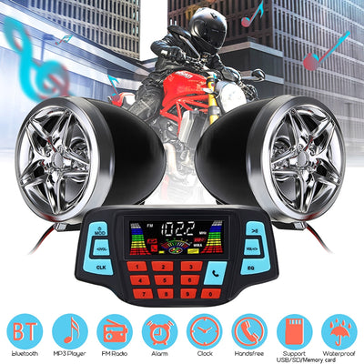 Motorcycle Studio Audio Sound System Stereo Speakers