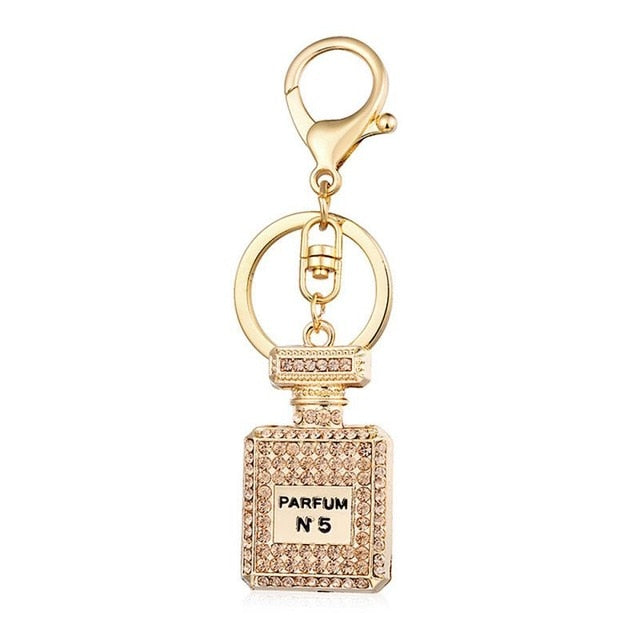Perfume Bottle Key Ring