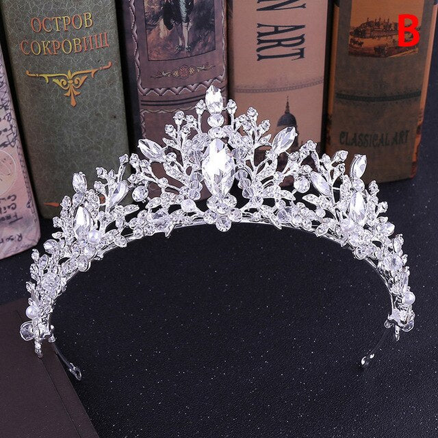 New Fashion Baroque Luxury Crystal Bridal Crown