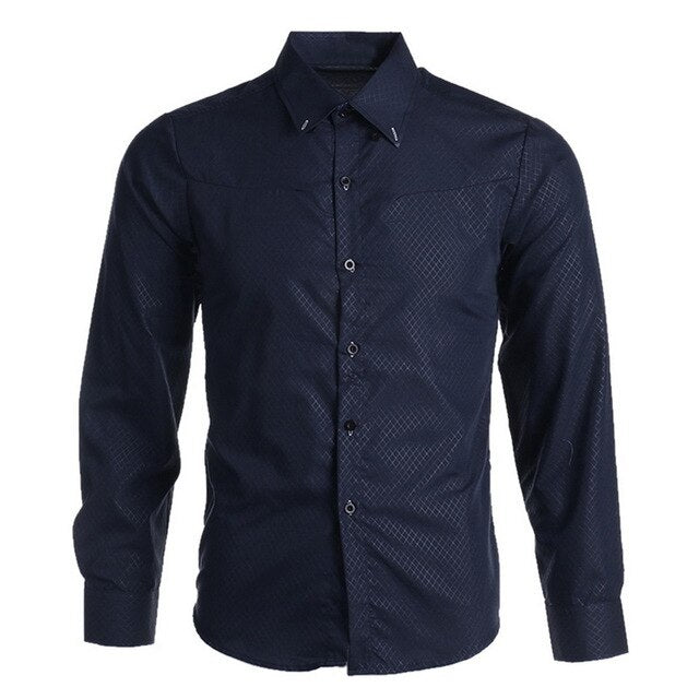 Spring Long Sleeve Formal Shirt For Men