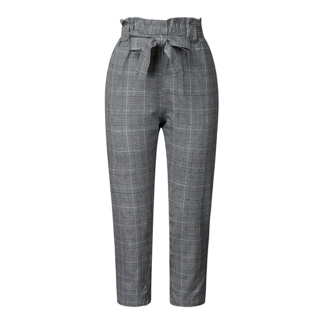 Vintage Gray Gril Casual Pants