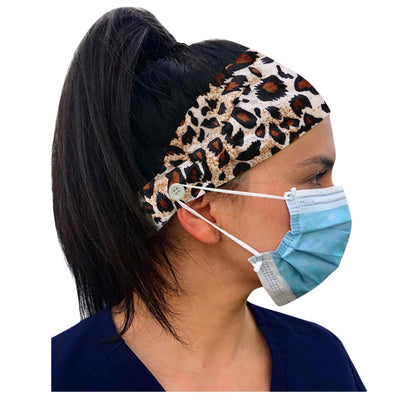 Soft Earmuff Headband With Button for masks