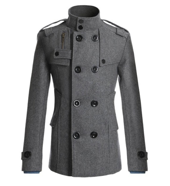 Men's Mao Wool Overcoat