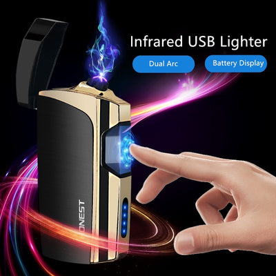 Laser Touch Double Arc Electronic Lighter