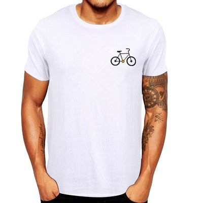 Men's Summer Cartoon Bicycle Patterns Printed T-Shirt Top Blouse Top 2020 Quick-dry Tee Tops O-Neck Tshirts Casual Tees Blouse