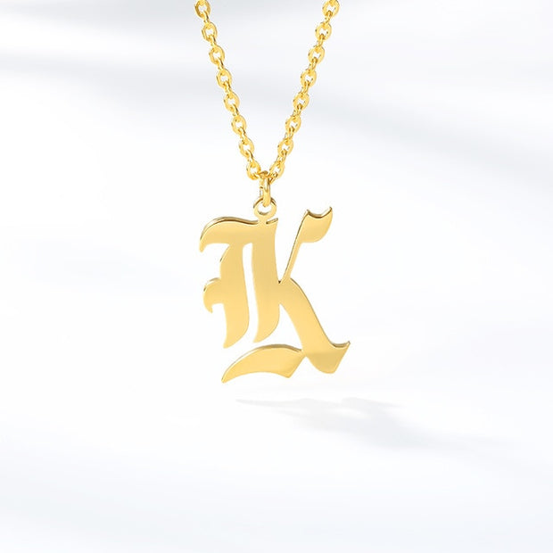 Initial Letter Necklace