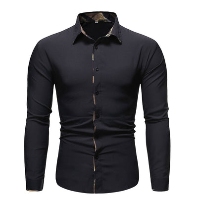 Casual Social Formal Men long Sleeve Shirt
