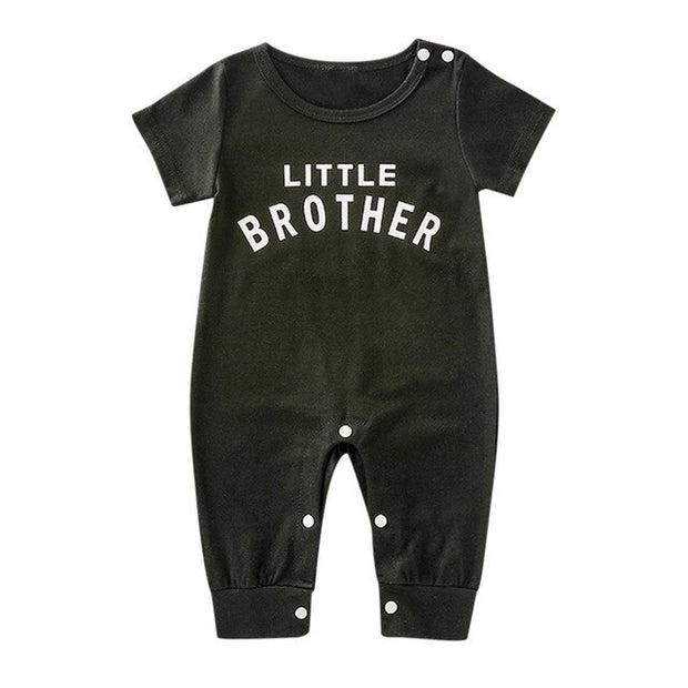 Newborn Infant Baby Boy Girl Button Letter Long Sleeve Romper Jumpsuit Playsuit Clothes Christmas Organic Cotton Baby Clothing