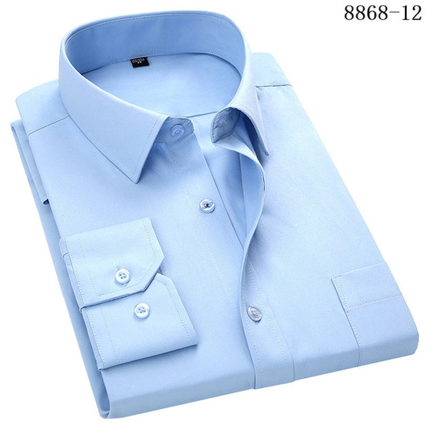 Men's Business Casual Long Sleeved Shirt