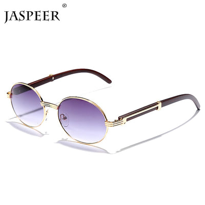 JASPEER Vintage Round Sunglasses Women Small Frame Classic Sun Glasses Blue Lens Men Steampunk Eyeglasses Retro Shades Eyewear