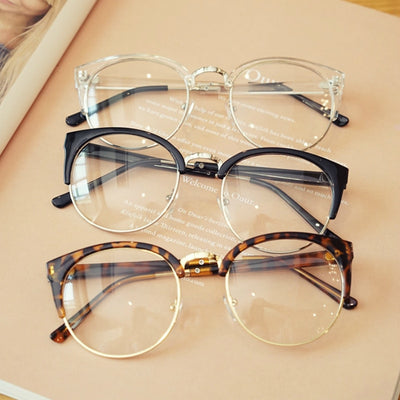 Transparent Spectacle Frame For Men Women Glasses Anti-fatigue Cat Eye High Quality Computer eyeglasses men Retro Optical Lens