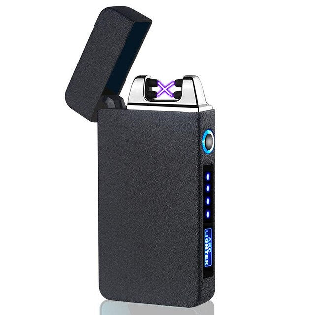 Portable USB Electric Lighter Windproof Dual Arc