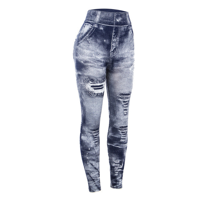 Women Printed Imitation Jeans