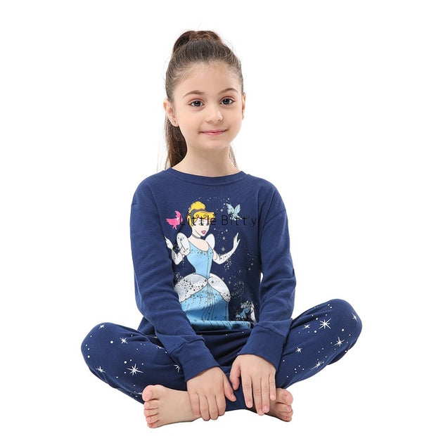 New Baby Girls Long Sleeve Cotton High Quality Unicorn Pijamas