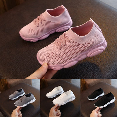 Baby Sneakers Flat Shoes Solid Stretch