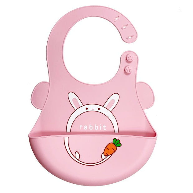 Cartoon Baby Soft Silicone Bib