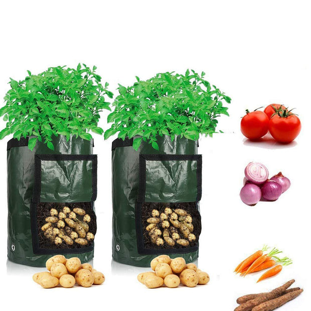 Potato Cultivation Planting Woven Fabric Bags Garden Pots Planters Vegetable Planting Bags Grow Bag Farm Home Garden Tool D30