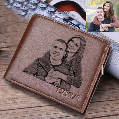 Young Leather Wallet Money Clip Custom Photo Gift