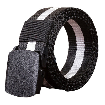 Men's Belts 2020 New Brand Unisex Design Plastic Steel Buckle Belt Man Quality Canvas Elastic Belts Waistband Casual Men #L20