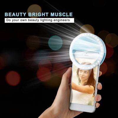Universal Mini Ring Lamp Beauty Fill Ring Light Camera Lenses Enhancing Phone Selfie Luminous Flash Supplementary Accessories
